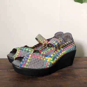 Steven by Steve Madden Brynn Wedge Sandals Size 8